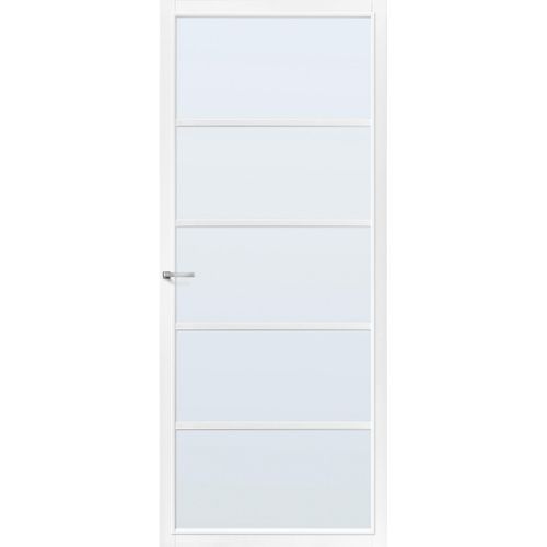 CanDo Capital binnendeur Springfield wit mat glas opdek rechts 93x211,5 cm