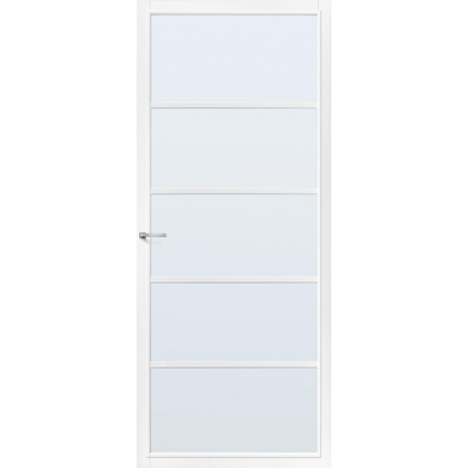 CanDo Capital binnendeur Springfield wit mat glas stomp links 78x211,5 cm