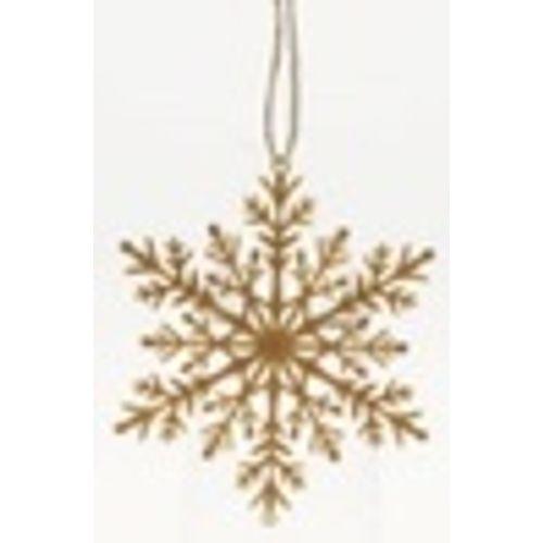 Hangertje sneeuwvlok bruin eco 110mm