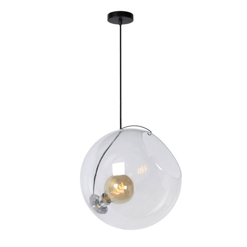 Lucide hanglamp Jazzlynn transparant Ø40cm E27