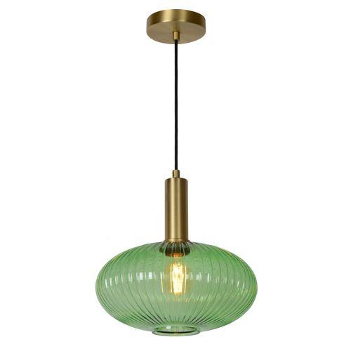 Lucide hanglamp Maloto groen Ø30cm E27
