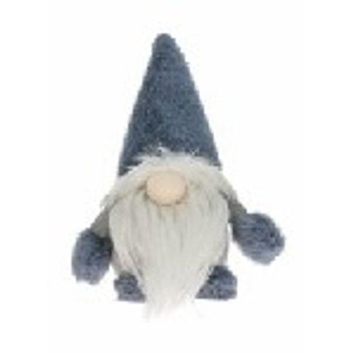 Peluche Père Noël Decoris bleu-gris 19cm