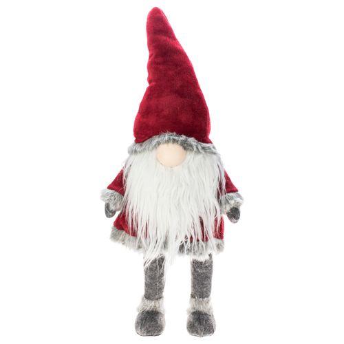 Peluche Père Noël Decoris bleu-gris 60cm