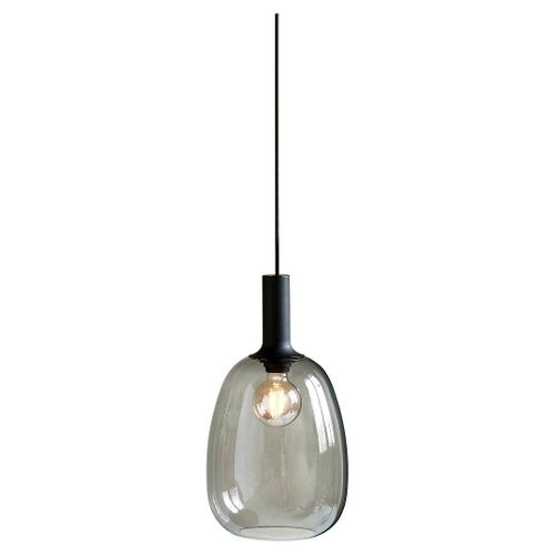 Nordlux hanglamp Alton zwart transparant E27 ø23cm