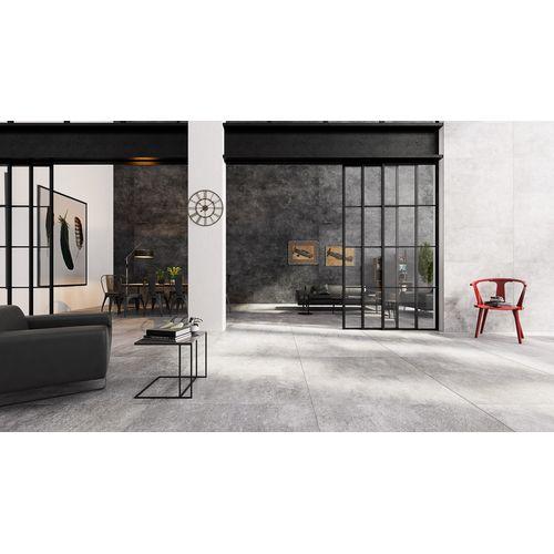 Carrelage de sol Urban Grey aspect béton grand format 60x120cm 1,44m²