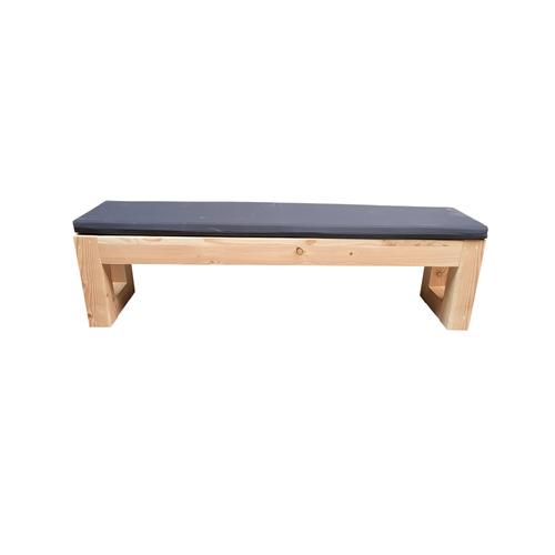 Wood4you tuinbank Boston douglashout+ kussen 140x43x38cm