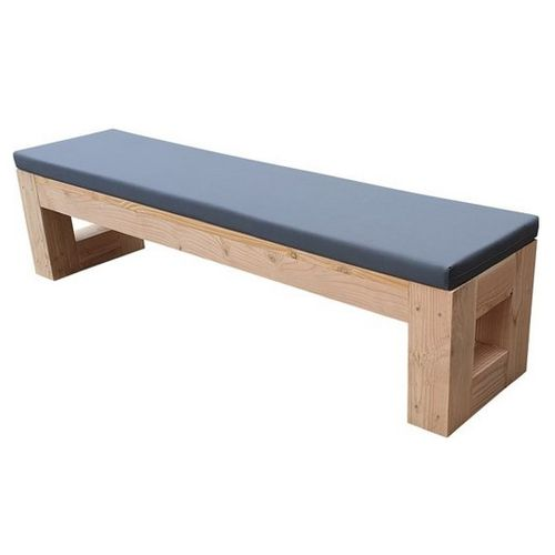 Banc de jardin Wood4you Boston Douglas bois + coussin 200x43x38cm
