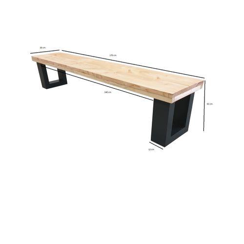 Wood4you tuinbank New England Douglas hout 170x38x45cm