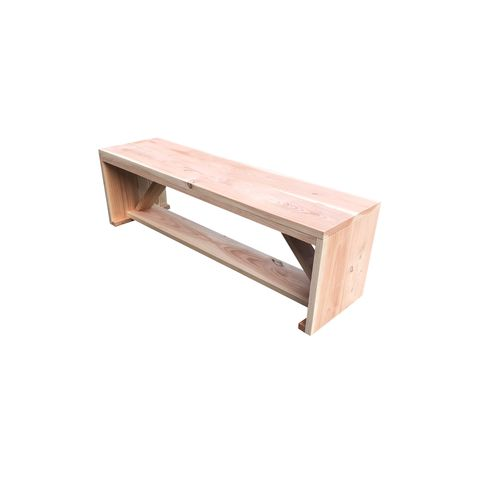 Banc de jardin Wood4you Nick Douglas en bois 130x38x43cm