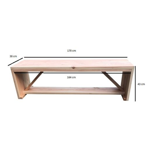 Wood4you tuinbank Nick Douglas hout 170x38x43cm