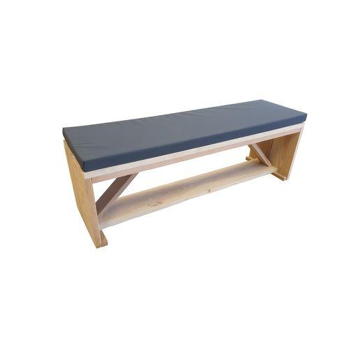 Banc de jardin Wood4you Nick Douglas bois + coussin 170x38x43cm