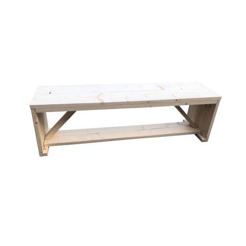 Banc de jardin Wood4you Nick en pin 120x43x38cm