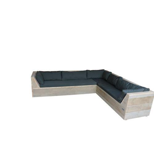 Wood4you Loungeset Six bois de construction 220Lx200Dx70H cm  (Gespiegelde L)