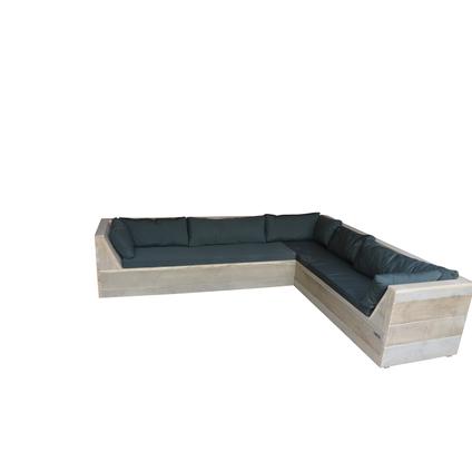 Wood4you Loungeset Six bois de construction 240Lx200Dx70H cm (Gespiegelde L)