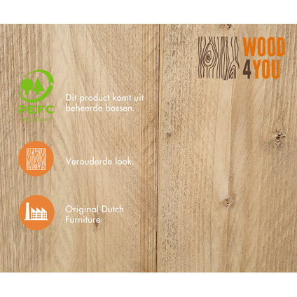Wood4you Loungeset Six bois de construction 200Lx220Dx70H cm(L-vorm)