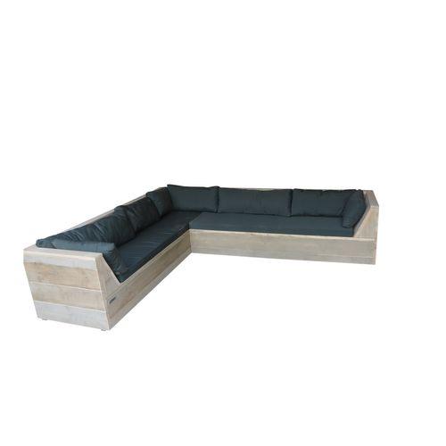 Wood4you Loungeset Six bois de construction 200Lx230Dx70H cm(L-vorm)