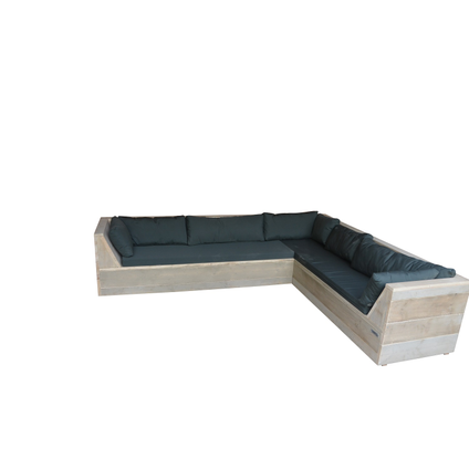 Wood4you Loungeset Six bois de construction 200Lx250Dx70H cm(L-vorm)