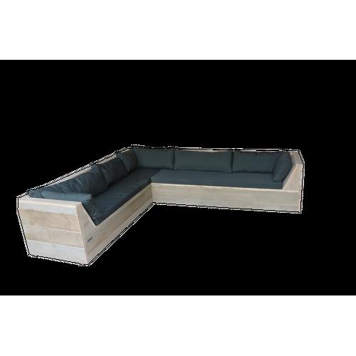 Wood4you Loungeset Six bois de construction 200Lx250Dx70H cm(L-vorm)