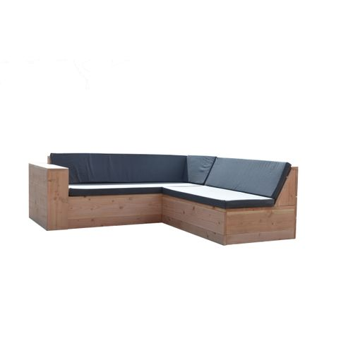 Wood4you loungebank One douglas 200Lx220Dx70Hcm (L-vorm)