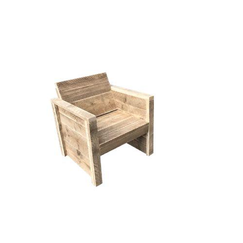 Wood4you Vlieland tuinstoel Steigerhout bouwpakket