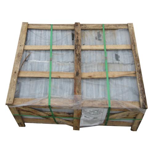 Coeck blauwe hardsteen gezaagd Vietnam 40x40x2,5cm + 1 kist  80 stuks