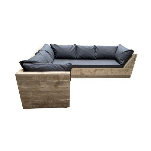 Wood4you loungebank Six steigerhout 230x200x70cm
