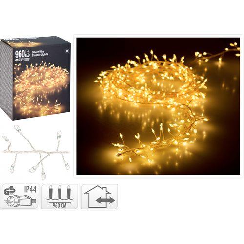 Cluster lichtsnoer 960 warm witte micro-LED