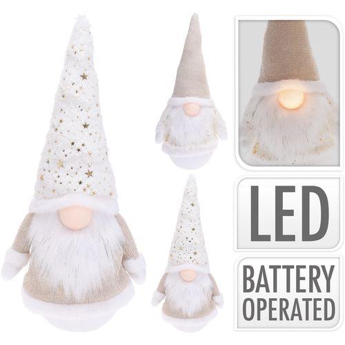 Gnome avec nez LED 43cm
