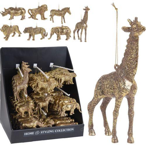Hangertje Safari Dieeren goud diversen 1 stuk