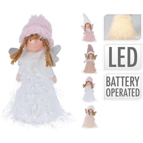 Engel LED wit licht 19cm