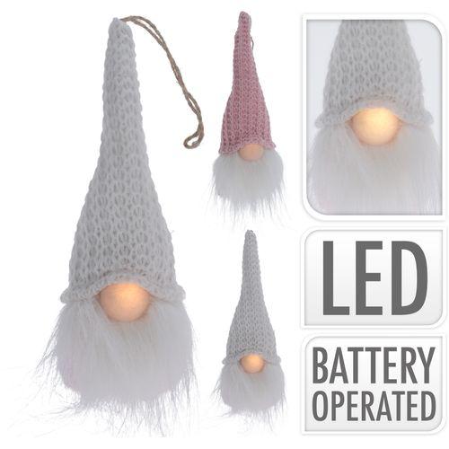 Peluche nain avec nez LED 19cm
