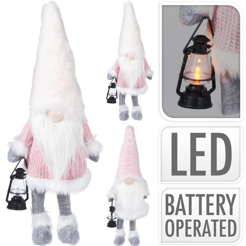 Nain avec lanterne LED Nampook 51cm