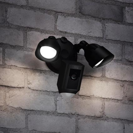 Ring slimme buitencamera met LED verlichting zwart