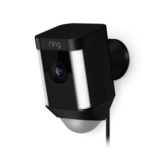 Ring Spotlight bewakingscamera bedraad zwart