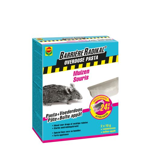 Compo lokaas Barrière Radikal Overdose pasta muizen 20g in voederdozen