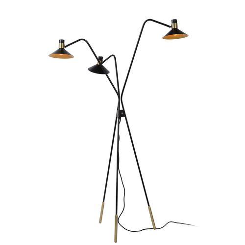 Lucide vloerlamp Pepijn zwart 3xE15