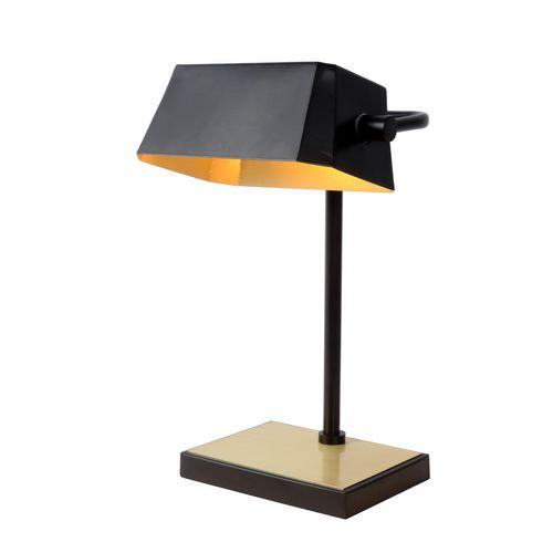 Lucide bureaulamp Lance zwart E28