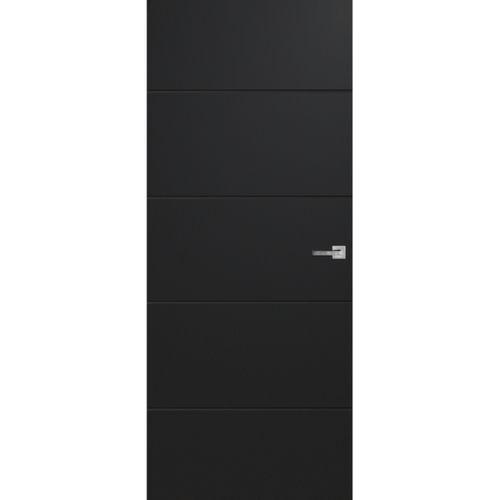 CanDo Capital binnendeur Tunis zwart opdek links 83x201,5 cm