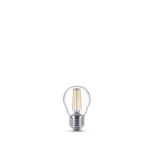 Philips LED kogellamp E27 4,3W warm wit - 2 stuks