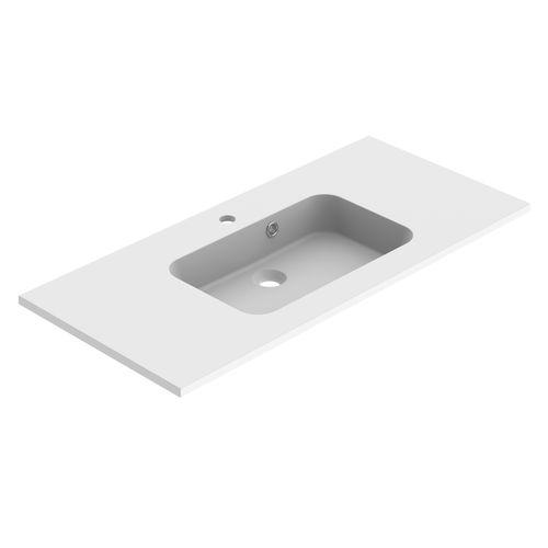 Lavabo Allibert Style 100cm blanc mat