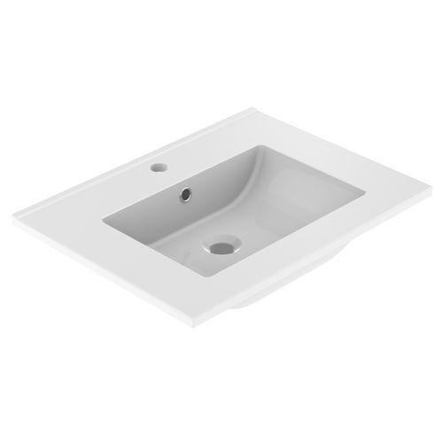 Lavabo Allibert Primo 60cm blanc brillant