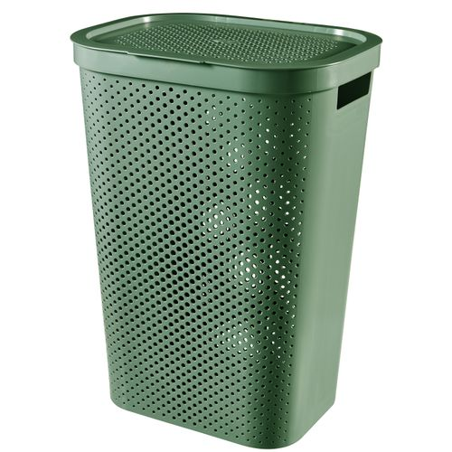Curver wasmand Infinity dots groen 60L - 100% recycled