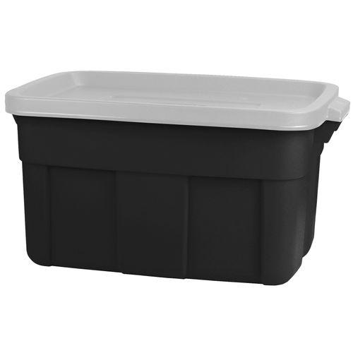Boîte de rangement Keter Roughtote noire gris 45L
