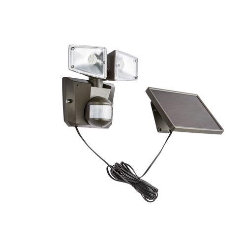 Globo solar beveiligingslamp LED met sensor grijs 3W