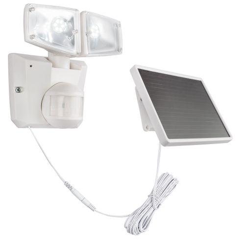 Globo solar beveiligingslamp LED met sensor wit 3W