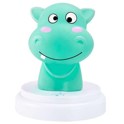 Alecto nachtlampje LED nijlpaard model