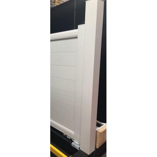 Elsealu poortpaal zijdegrijs aluminium 15x15x250cm