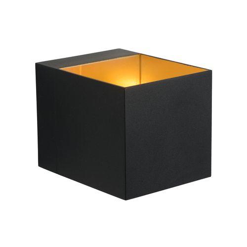 Lucide wandlamp Devi zwart goud G9