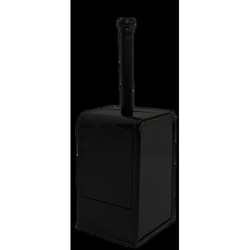 Set brosse wc Edge noir à poser/à suspendre
