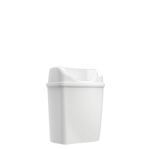 Poubelle Edge Mini à poser/à suspendre blanc 6L